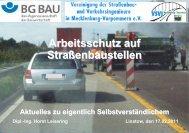 Arbeitsschutz auf Straßenbaustellen enbaustellen - VSVI MV