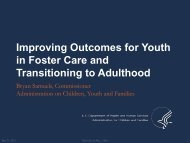 Improving Outcomes for Youth in Foster Care and Transitioning to ...