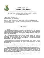Determinazione nr. 1461 del 12/06/2009 - Provincia di Pordenone