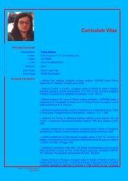 CV - Roberta Frison - Istituto Meme S.r.l.