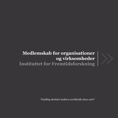 Medlemskab for organisationer og virksomheder Instituttet for ...