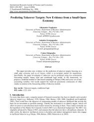 Predicting Takeover Targets: New Evidence from a ... - EuroJournals