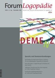 Sprache und Demenzerkrankungen - Schulz-Kirchner Verlag