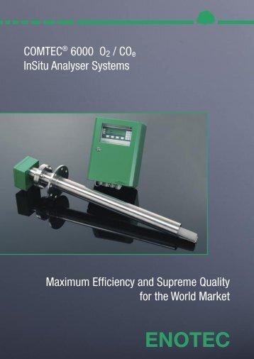 COMTEC 6000 O2 / COe InSitu Analyser Systems