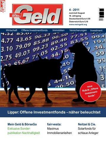 Lipper: Offene Investmentfonds - näher beleuchtet - Prometheus