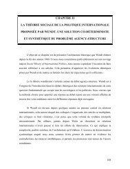 chapitre ii la théorie sociale de la politique internationale proposée ...