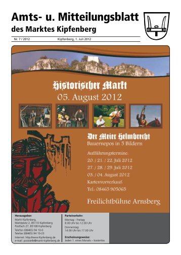 Amts- u. Mitteilungsblatt