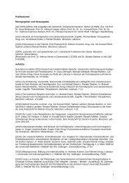 Publikationen Monographien und Herausgaben (seit 2005) jährlich ...
