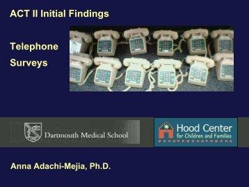 Telephone Surveys by Anna Adachi Mejia, PhD