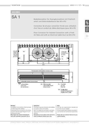 anteil und E lektrokabelkanal (bei 60 m3/h) - Energia-BG