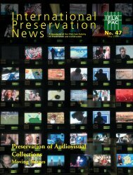 Preservation Of Audiovisual Collections, Moving Images. - IFLA