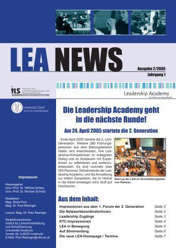 LEA NEWS Ausgabe 2/2005 - Leadership Academy