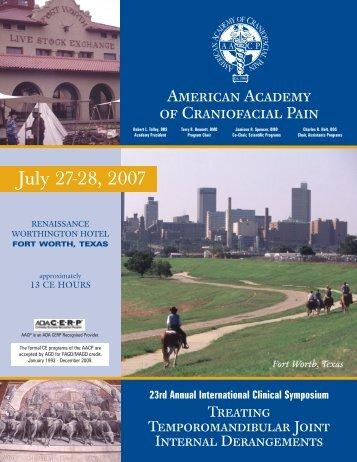 AACP - American Academy of Craniofacial Pain