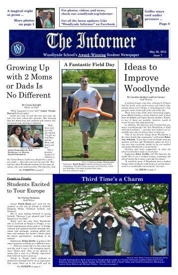 Informer May 2013 Issue - Woodlynde School