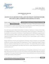 press release - Harrison Design Associates