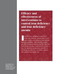 Efficacy and effectiveness of interventions to control iron ... - UNSCN