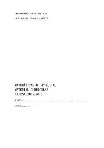 matemáticas b 4º eso material curricular curso 2012-2013