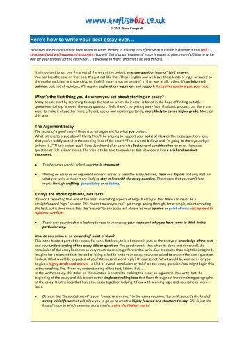 college admission essay ever written