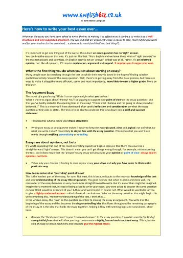 run your best ever triradar com here s how to write your best essay ever englishbiz