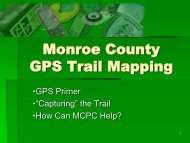 Monroe County GPS Trail Mapping