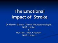 The Emotional Impact of Stroke