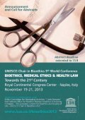 UNESCO Chair in Bioethics 9th World Conference Towards the 21st ... - Page 2