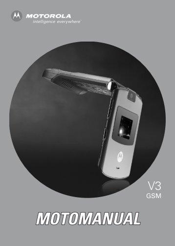 Motorola RAZR V3 Manual - Virgin Media