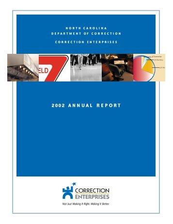 annual report 2002.PRINTERsSprd - Correction Enterprises