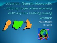 Lebanon, Nigeria, Newcastle – holding hope when working ... - AFT