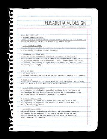 QUALIFICATIONS EXPERIENCE - Elisabetta M. Design