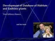 5. Viera Stanova - Plants and Habitats data collection