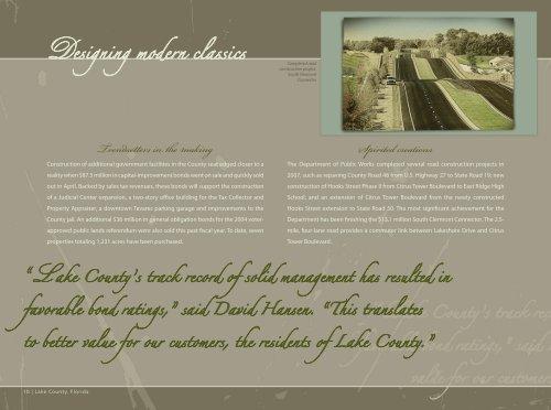 Designing modern classics - Lake County