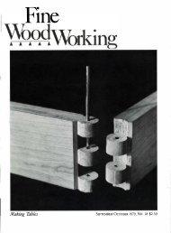 Fine ood orking - Wood Tools