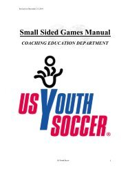 Small Sided Games Manual - Ohio Youth Soccer Association North