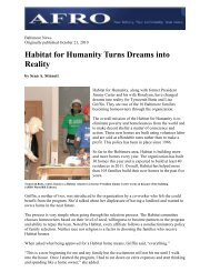 Habitat for Humanity Turns Dreams into Reality
