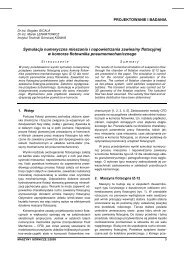 maszyny górnicze 2/2009 - Instytut Techniki Górniczej KOMAG