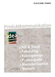 Stil & Trend Fotostyling Katalogdesign Produktgrafik - Culture Form