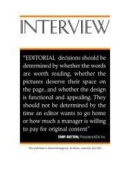 TONY SUTTON - News Design Associates