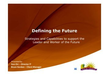 Defining the Future - Integrated Operations 2013