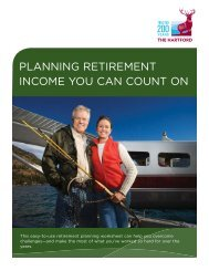 planning retirement income you can count on - The Hartford