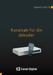 Brukerguide for SMA-nett - Canal Digital Kabel-TV
