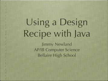 design-recipe-presen.. - JimmyNewland