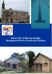 Rural City of Murray Bridge Management Plan for Community Facilities