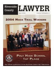 April 2004 - Riverside County Bar Association