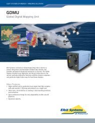 Global Digital Mapping Unit Data Sheet - Elbit Systems of America