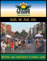 TASTE. DO. PLAY. STAY. - Grinnell Area Chamber of Commerce