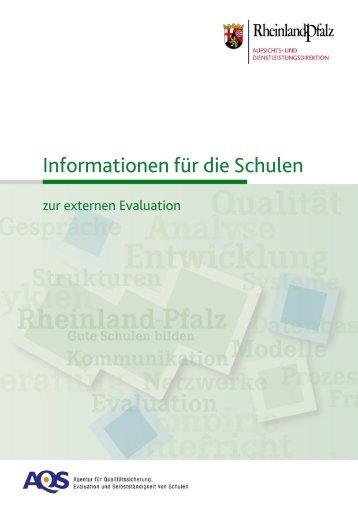 Informationen für die Schulen - AQS - in Rheinland-Pfalz