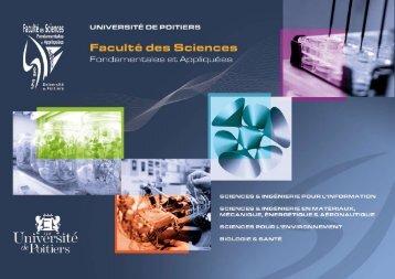 Plaquette de la faculté [PDF - 2 Mo ] - Faculté de Sciences ...
