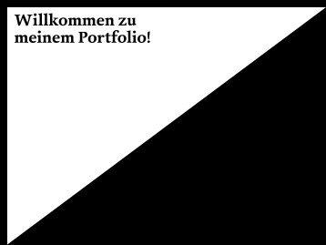 Willkommen zu meinem Portfolio! - Miriam Koban