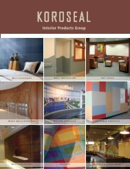 KOROSEAL Family of Products Brochure (PDF)